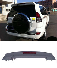 Unpaint Aero Spoiler Wing With LED For Toyota Prado FJ120 2003-2009 Rear Spoiler