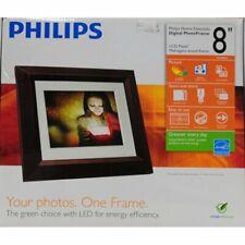 Philips 8 inch Digital Photo Frame Mahogany New Box Never Opened
