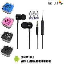 For Android Samsung Galaxy,ZTE,HTC,LG  black Headphones Headset With Microphone