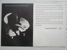 7/1970 PUB HAMILTON STANDARD PRODUCT SUPPORT OEUF EGG EI ORIGINAL AD