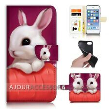 ( For iPod Touch 6 ) Wallet Flip Case Cover AJ40176 Rabbit