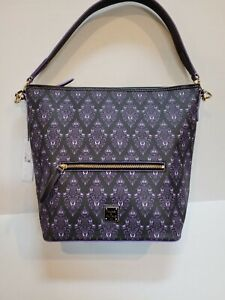 Disney Dooney and Bourke The Haunted Mansion Wallpaper Hobo Bag Purse