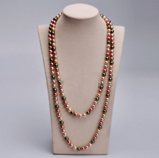 """Fashion Women's 8mm Natural Multicolor South Sea Shell Pearl Necklace 36"""" Long"""
