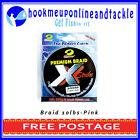 10lb Braid x 300mts Pink X-Strike Premium Braid Fishing Line