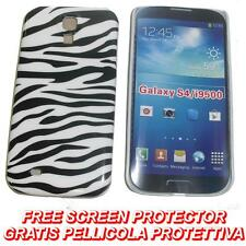 Pellicola + custodia BACK cover RIGIDA ZEBRA per Samsung I9500 Galaxy S4 S 4