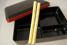 BENTO BOX pale yellow flower CHOPSTICKS lid boxes NEW obento banto haku JAPAN