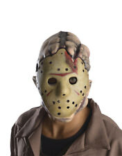 Jason Voorhees Deluxe Latex Mask, Mens Friday 13th Horror Costume Accessory