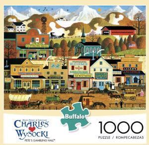 Buffalo Games - Charles Wysocki - Pete's Gambling Hall 1000 Piece Jigsaw Puzzle