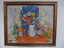 Ion MUSCELEANU (1903-1997) Nature morte huile sur Carton 1990