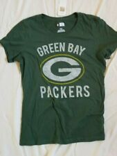 NEW NFL Green Bay Packers Women's Short Sleeve Crew Neck Tee, Green, Large