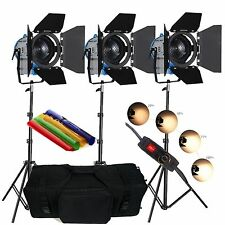 FSKIT3050PB 3 × 500W Movie Fresnel Tungsten Spotlight Lighting dimmer video padd
