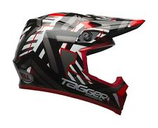 2017 Bell MX9 Tagger Double Trouble Black Red Motocross Helmet Adult Large