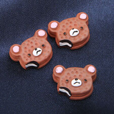 50pcs Wholesale Flatback Coffee Bear Head Resin Stick-on Charms Embellishment D