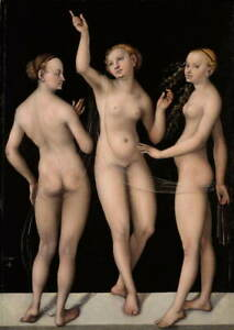 Lucas Cranach the Elder The Three Graces Giclee Paper Print Poster Reproduction