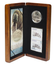 CANADA 5 Dollars 2005 Atlantic Walrus and Calf Silver Proof Coin & Stamp Set