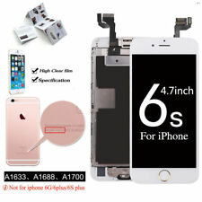 "For iphone 6S 4.7"" LCD Touch Screen White Replacement with Home Button + Camera"