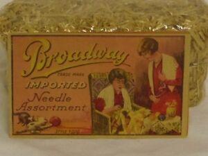 Antique Vintage Broadway Needle Assortment case folder from Germany Rhineland