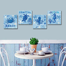 Ocean Artwork Blue Sea Wall Art Painting Prints On Canvas For Home Decor