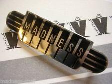 MADNESS - BLACK PIANO LOGO DIAL-A-STYLE ENAMEL BADGE - SUGGS SKA TWO TONE STIFF