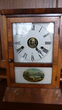 Fantastic Seth Thomas Cottage Clock, 30 hour, spring clock, reverse painting