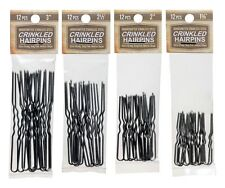 Amish Made Crinkled  Heavy Duty Assorted Stainless Steel Hairpins  4 PACKS