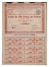 ACTION  250 FR CONSTRUCTIONS ET GRANDES ENTREPRISES FRANCE 1919