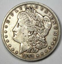 1892-CC Morgan Silver Dollar $1 - XF Details Condition - Rare Coin!