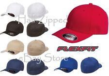 Flexfit V-Flex Twill Cap Fitted Hat 5001 S/M L/XL Baseball Hat NEW