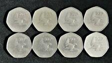 EIGHT IRISH IRELAND 50 PENCE COINS 1970 1975 1979 1988 1996