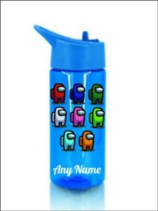 Among us Personalised bottle childrens kids Pink or blue