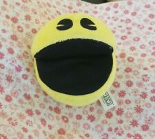 """Yellow Pac Man 5 '' Stuffed Toy. USA. Clean Excellant """"Chomping Sounds"""" by Namco"""