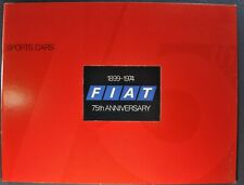 1974 Fiat Brochure 124 Sport Spider 124 128 L Coupe X1/9 Excellent Original 74