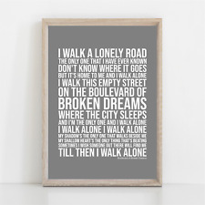 More details for green day boulevard of broken dreams song lyrics poster print wall art