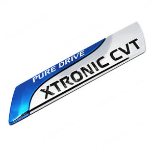 Xtronic CVT Pure Drive Car Auto 3D Boot Fender Badge Sticker Emblem for Nissan