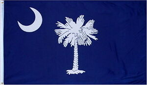NEW STATE OF SOUTH CAROLINA FLAG 3 X 5 FEET BRASS GROMMETS INDOOR OUTDOOR FLAGS