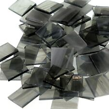 """100 1/2"""" Spectrum Gray and White Wispy Stained Glass Mosaic Tiles"""