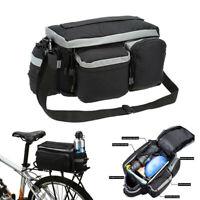 Cycling Bicycle Rear Seat-Storage Trunk Bag Bike Pannier Rack Waterproof Handbag