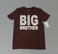 Carter's Boy's Big Brother Graphic Tee CD4 Dark Red Size 8