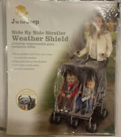 JEEP Side by Side Stroller Rain Snow Shield Cover Fits Most Tandem Stroller NWT