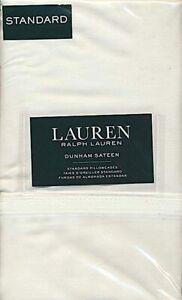 Ralph Lauren Dunham Sateen Standard Pillowcases 2 Pi-300 CT. White  MSRP$45