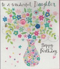Rachel Ellen Greeting Card Birthday Acceptance Get Well Button Detail Wonderful Daughter