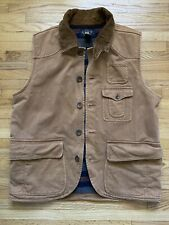 RRL RALPH LAUREN DOUBLE RL BLANKET LINED VEST HUNTING MENS LARGE RARE
