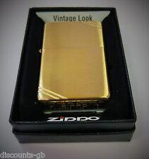 Zippo Vintage 1937 Windproof Lighter - Brushed Brass - 240 + Gift Box
