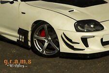 Toyota Supra Front Bumper Canards 4pcs fits most mk4 Bumpers v7