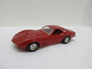 Vintage 1970s Red Chevrolet Corvette Stingray Dealer's Promo Plastic Model Car