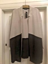 BNWT MARKS & SPENCER COLLECTION GREY MIX EDGE - EDGE DUSTER STYLE JACKET SIZE 22