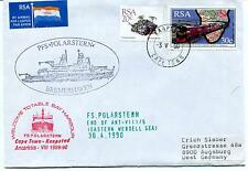 1990 Polarstern Bremerhaven Totable Bay Harbour Cape Town Polar Antarctic Cover