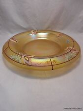 Fenton Millennium Collection Hand Painted Rolled Rim Gold Satin Bowl 10""