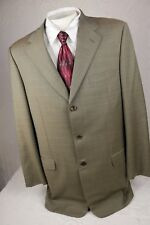 Men's TRUSSINI 3-Button Suit Jacket Trousers Wool Super 120s IT 56/ US 46 (42L)