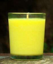 40hr CITRONELLA & FRESH PEACHES Organic Soy Jar Votive Candle Mosquito Repel
